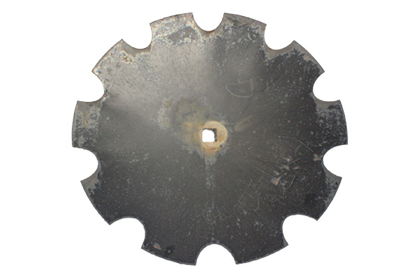 "22"" x 4.50mm -Notched Disc Blade - 1.1/8"" Sq. Axle"