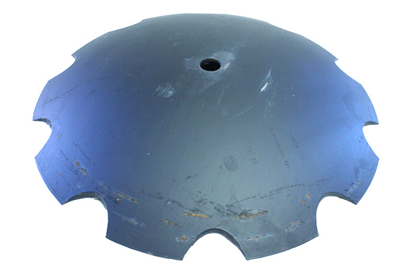 """28"""" x 6.00mm - Notched Disc Blade -1.1/2"""" Rd. Axle / 2.87"""" Shallow concavity"""